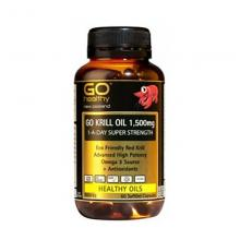 Go Healthy Krill Oil高含量磷虾油 1500mg 60c
